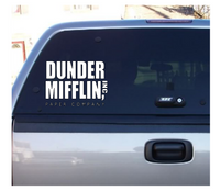 The Office Dunder Mifflin Vinyl Decal Sticker Free Shipping Merch Massacre