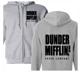The Office Dunder Mifflin Zip Up Hoodie Hooded Sweatshirt Unisex S-5X Adult Dwight Horror Free Shipping Merch Massacre