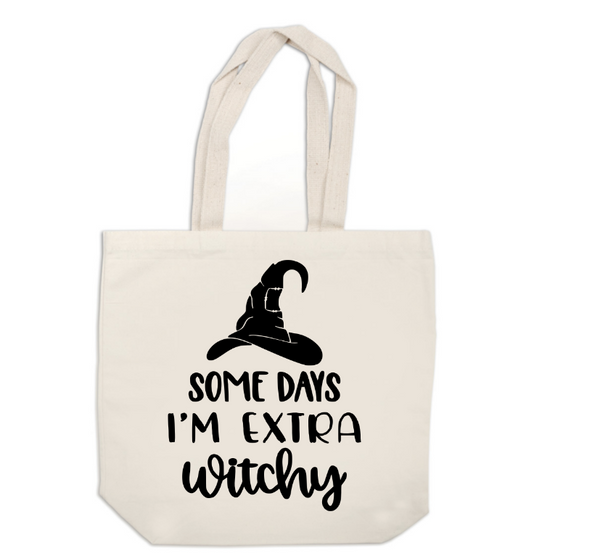 Witch Canvas Tote Bag Extra Witchy Horror Free Shipping Merch Massacre