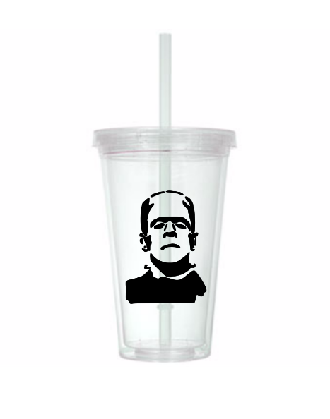 Universal Monsters Tumbler Cup Frankenstein Bride Wolfman Creature Black Lagoon Classic Horror Sci Fi Nerd Geek Halloween Free Shipping Merch Massacre