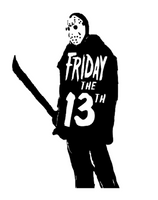 Friday the 13th Jason Vorhees Vinyl Decal Sticker Crystal Lake Horror Free Shipping Merch Massacre