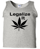 Legalize It Pot Tank Top Sleeveless Unisex Shirt Adult Pro Weed S-2X Merch Massacre Free Shipping