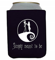 Nightmare Before Christmas Simply Meant Can Cooler Sleeve Bottle Holder Free Shipping Merch Massacre