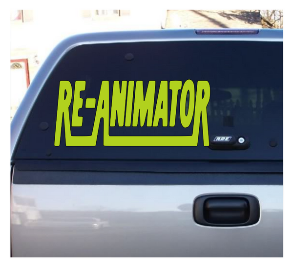 Re-Animator Herbert West Vinyl Decal Horror Sticker Lovecraft Computer Free Shipping Merch Massacre
