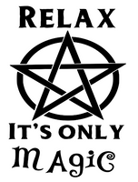 Witch It's Only Magic Vinyl Decal Sticker Wicca Witchcraft Horror Free Shipping Merch Massacre