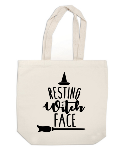 Witch Canvas Tote Bag Resting Witch Face Horror Free Shipping Merch Massacre