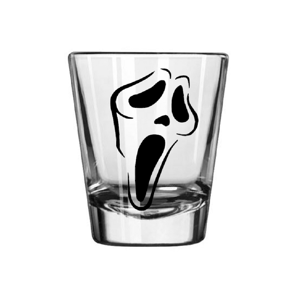 Scream Shot Glass Serial Killer Slasher Scary Movie Horror True Crime Funny LOL Nerd Geek Halloween Free Shipping Merch Massacre