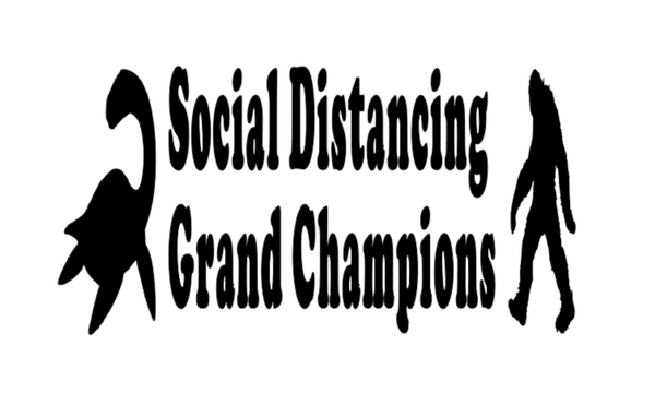 Social Distancing Grand Champions Vinyl Decal Sticker Bigfoot Nessie Free Shipping Merch Massacre