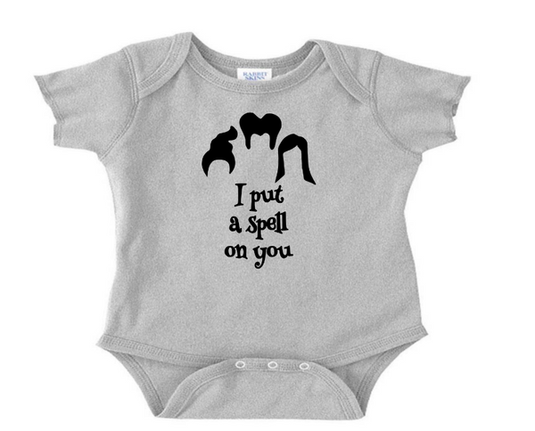 Witch Spell On You Baby Infant Youth Bodysuit Romper NB-24 Months Horror Free Shipping Merch Massacre
