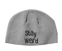 Stay Weird Beanie Knitted Hat Horror Free Shipping Merch Massacre