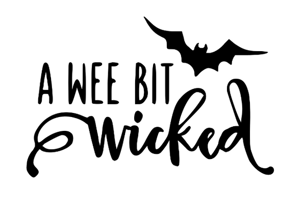 Witch Wee Bit Wicked Vinyl Decal Sticker Witchcraft Wicca Wiccan Coven Halloween Horror Nerd Geek Halloween Free Shipping Merch Massacre