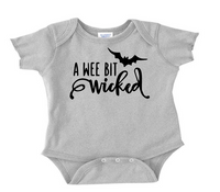 Witch Wicked Baby Infant Youth Bodysuit Romper NB-24 Months Horror Free Shipping Merch Massacre