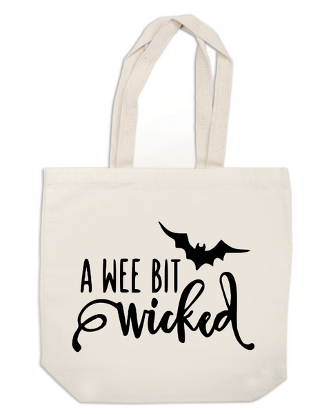 Witch Canvas Tote Bag Wee Bit Wicked Horror Free Shipping Merch Massacre