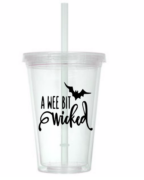 Witch Tumbler Cup Wee Bit Wicked Witches Classic Kid Movie Haunted House Magic Magick Witchcraft Horror Halloween Free Shipping Merch Massacre