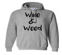 Wine and Weed Hoodie Unisex Pullover Hooded Sweatshirt Adult S-5X Pro Weed Horror Free Shipping Merch Massacre