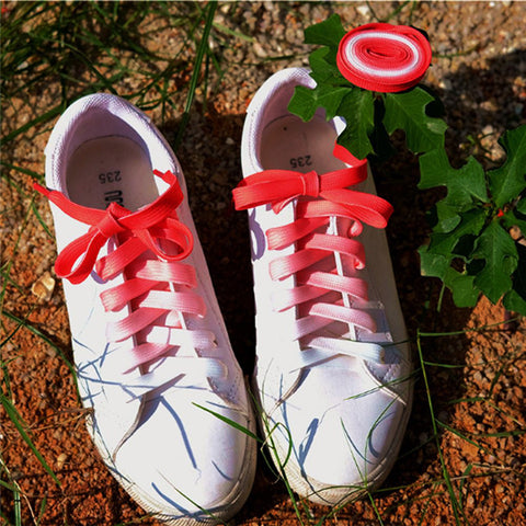 Shoelaces Colorful Flat Round Bootlace Sneaker Shoe Laces Shoe Strings 1M
