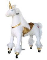 Medallion Ride On Toy Really Walking Horse GOLDEN UNICORN - Large Size