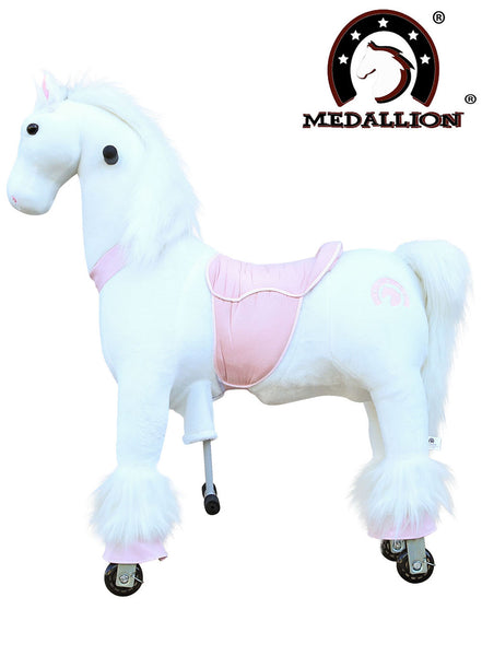 Medallion Ride On Toy Really Walking Horse PINK HORSE - Medium Size