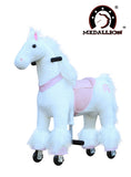 Medallion Ride On Toy Really Walking Horse PINK HORSE - Small Size