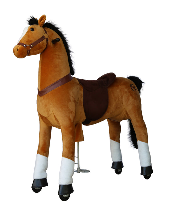 Medallion Ride On Toy Really Walking Horse BROWN - Large Size