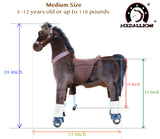 Medallion Ride On Toy Really Walking Horse CHOCOLATE BROWN - Medium Size