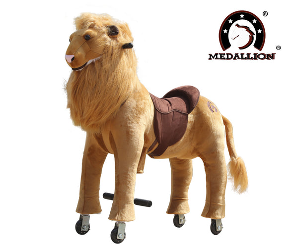Medallion Ride On Toy Really Walking FRIENDLY LION - Medium Size