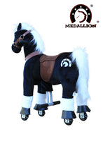 Medallion Ride On Toy Really Walking Horse BLACK KNIGHT - Small Size