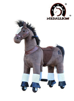 Medallion Ride On Toy Really Walking Horse CHOCOLATE BROWN - Small Size