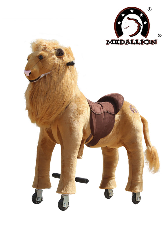 Medallion Ride On Toy Really Walking FRIENDLY LION - Small Size