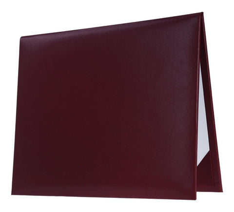 Maroon Graduation Diploma Cover - High School Diploma Covers - Graduation Cap and Gown