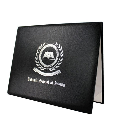 Custom Diploma Covers with Text or Logos - Textured