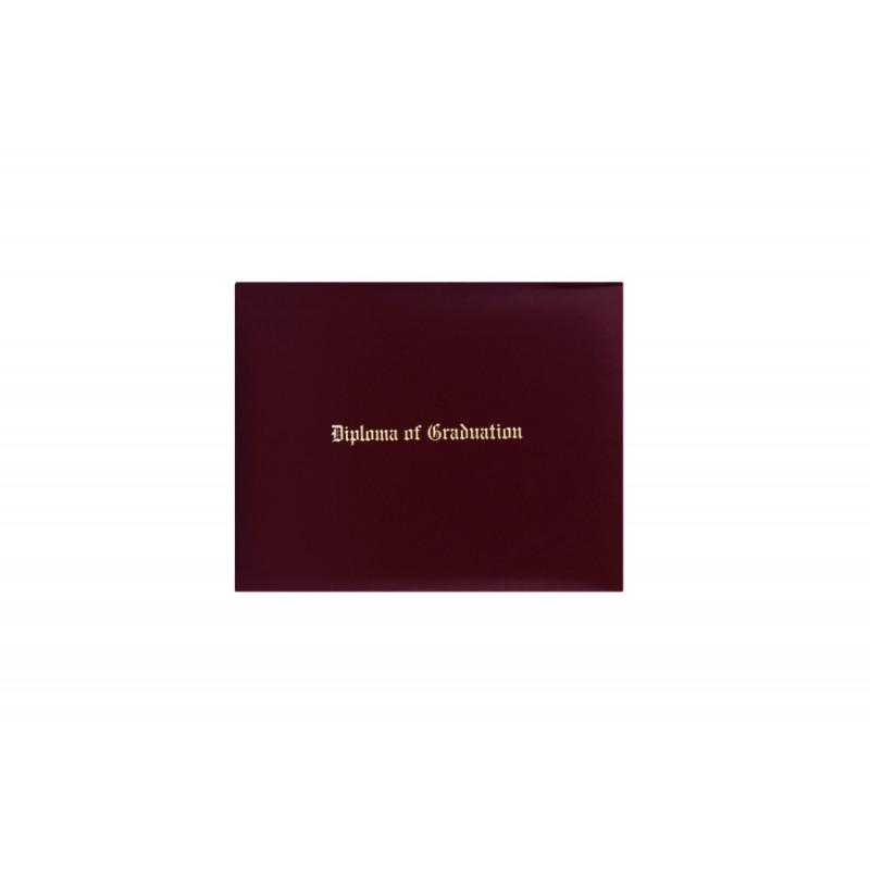 Maroon Imprinted Diploma Cover - High School Diploma Covers - Graduation Cap and Gown