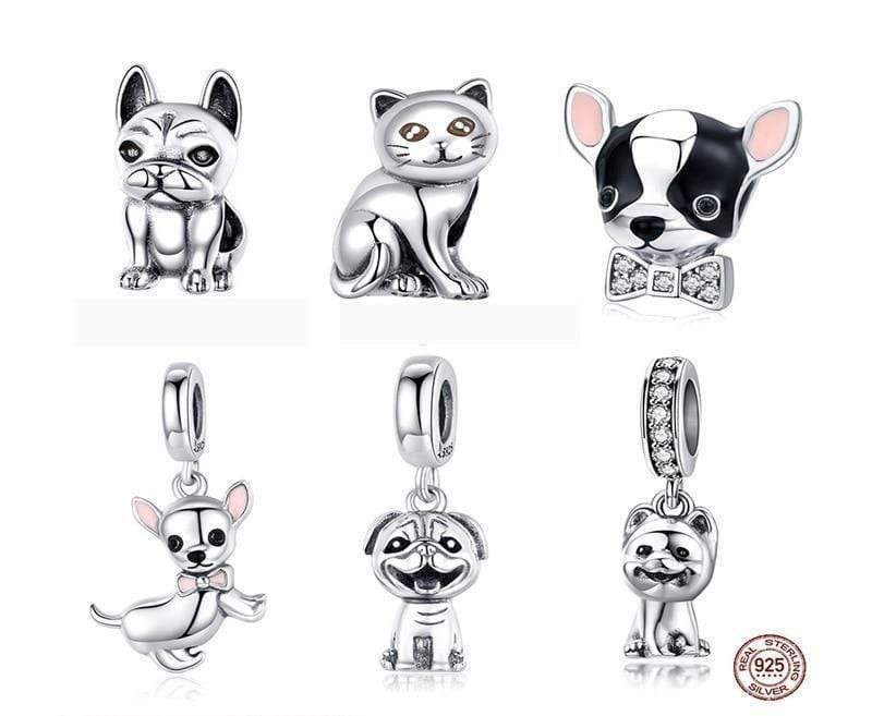 REAL STERLING SILVER DOG CHARMS