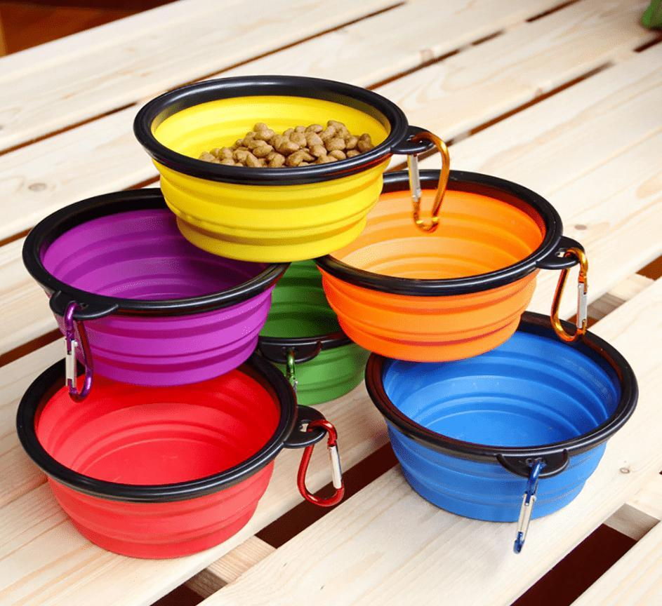 Portable Travel Collapsible Dog Bowl
