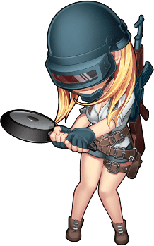 Pubg Girl with Frying Pan