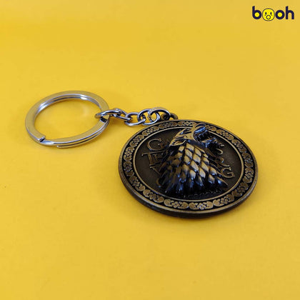 Game Of Thrones House Stark Metal Keychain - Booh.in