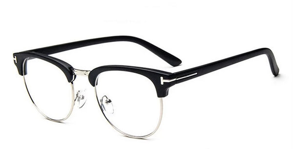 Semi Rimless Oval Eyeglasses