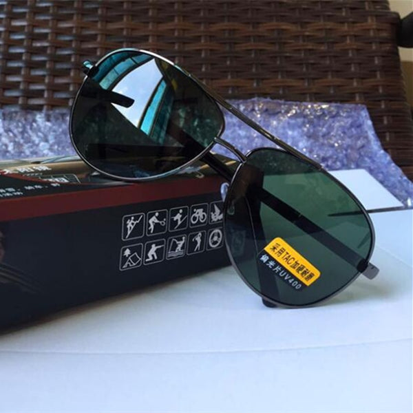 Double Bridge Aviator Polarized Sunglasses