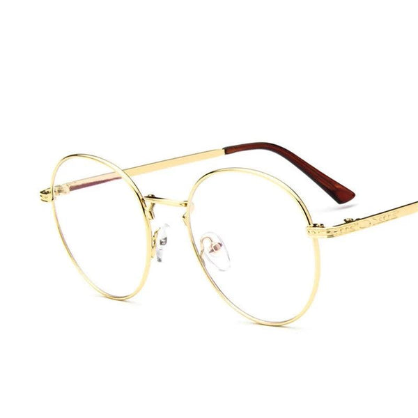 Retro Round Metal Blue Light Eyeglasses