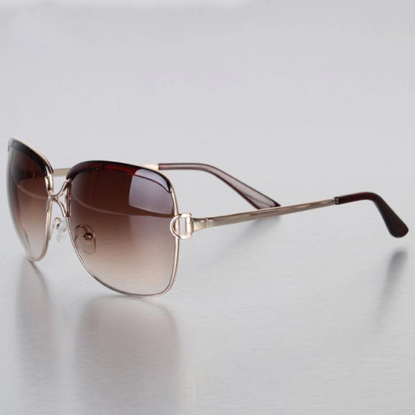 Noticeable Oversized Metal Sunglasses
