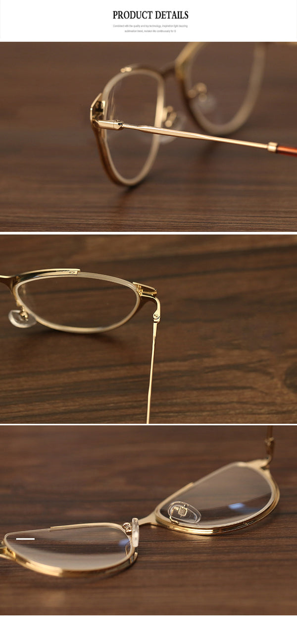 Fashion Cateye Thin Frame Eyeglasses