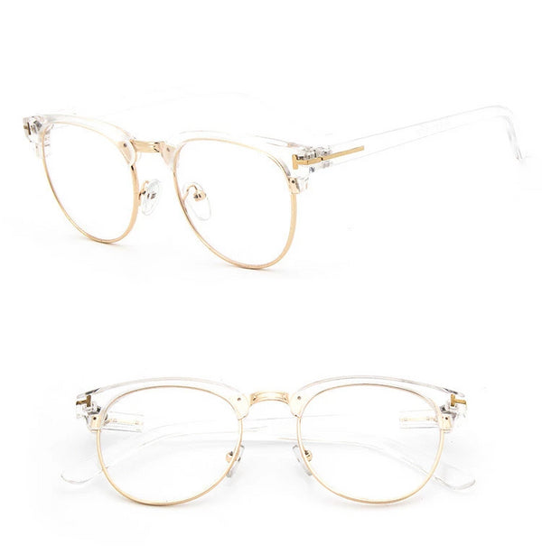 Semi Rim Oval Eyeglasses