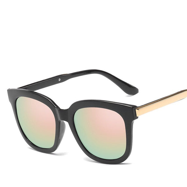 Thick Frame Mirror Lady Oversized Sunglasses