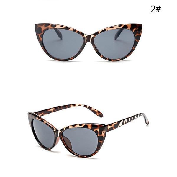 Fashion Women Cat Eye Glasses Vintage Leopard Eyeglasses Luxury charm UV Protection Sunglasses Sexy  Clear Lens Summer Gifts