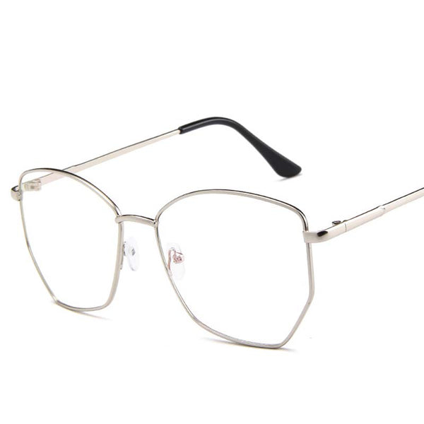 Hexagon Transparent Nerd Eyeglasses