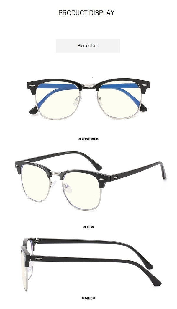 SemiRim Thick Rim Anti Blue Light Eyeglasses