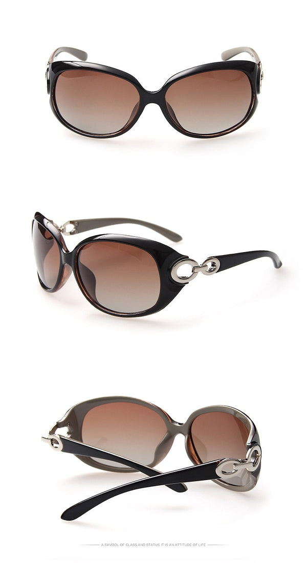 Feminine Temple Polarized Women Sunglasses