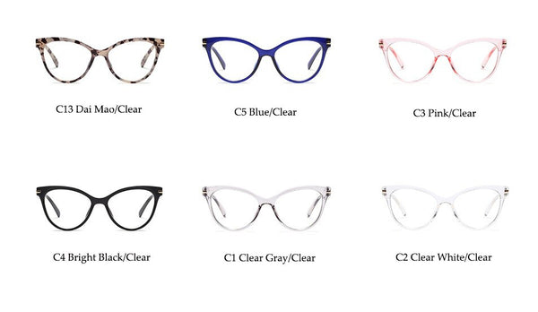 Transparent CatEye Hipster EyeGlasses