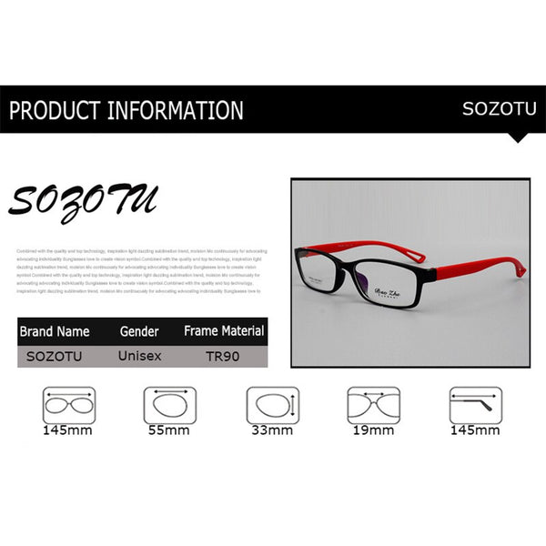 Square MixColor Handsome Eyeglasses