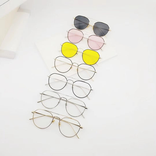 Korean Style Fashion Thin Frame Sunglasses